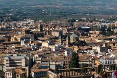 Cityscape view of Granada in Andalusia, Spain royalty free stock photography