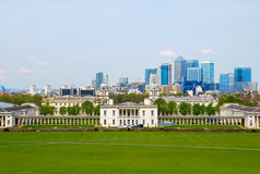 Cityscape View from Greenwich of London Stock Photo