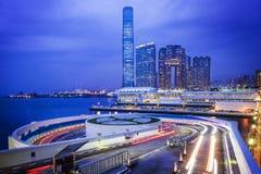 Cityscape view Hong Kong at night Royalty Free Stock Photos