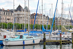 Cityscape View of Lake Geneva, Switzerland Royalty Free Stock Photography