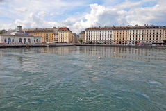 Cityscape View of Lake Geneva, Switzerland Royalty Free Stock Photography