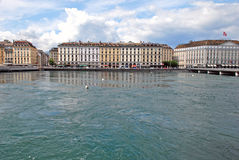 Cityscape View of Lake Geneva, Switzerland Stock Photos