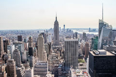 Cityscape view of lower New York City Royalty Free Stock Images