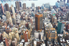 Cityscape view of Manhattan from Empire State Building Stock Photos