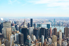 Cityscape view of Manhattan from Empire State Building Royalty Free Stock Photos