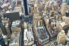 Cityscape view of Manhattan from Empire State Building Royalty Free Stock Photo