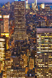 Cityscape view of Manhattan with Empire State Building at night Stock Image