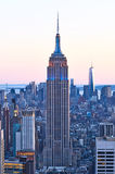 Cityscape view of Manhattan with Empire State Building at sunset Stock Photography