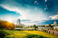 Cityscape View Of Modern Architecture Of Minsk Royalty Free Stock Photos
