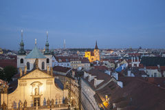 Cityscape View at Night, Prague Stock Image