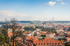 Cityscape view of Prague Stock Image