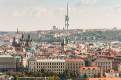 Cityscape view of Prague Stock Photos