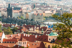 Cityscape view of Prague Stock Photo