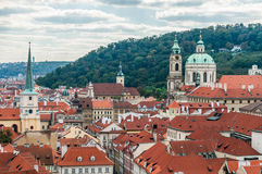 Cityscape view of Prague Stock Photography