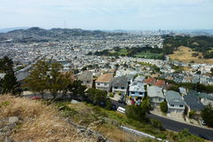 Cityscape. View of San Francisco from San Bruno Mountain Stock Photo