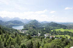 Cityscape view of Schwangau, Bavaria, Germany. Royalty Free Stock Image