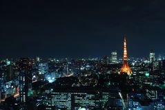Cityscape view of Tokyo city Stock Images