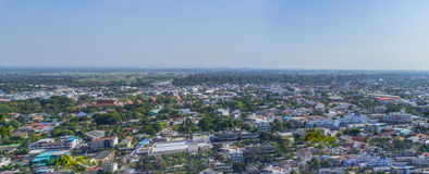 Cityscape view from top of the hill or mountain Royalty Free Stock Photography