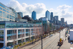 Cityscape view from top of Seattle downtown Royalty Free Stock Photos
