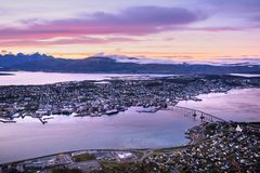 Cityscape view of Tromso, Norway Stock Image