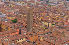 Cityscape view from two towers, Bologna, Italy Royalty Free Stock Photography