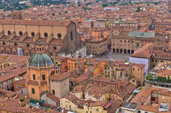 Cityscape view from two towers, Bologna, Italy Royalty Free Stock Images