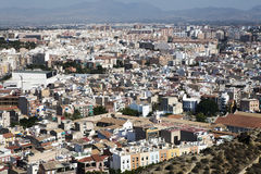 Cityscape viewed from the Santa Barbara castle. Royalty Free Stock Photography