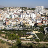 Cityscape viewed from the Santa Barbara castle. Stock Image
