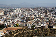 Cityscape viewed from the Santa Barbara castle. It is the second Royalty Free Stock Images