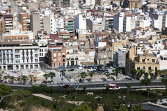 Cityscape viewed from the Santa Barbara castle. It is the second Stock Image