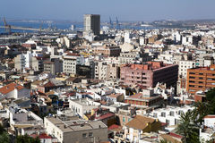 Cityscape viewed from the Santa Barbara castle. It is the second Stock Photography