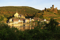 Cityscape of village Beilstein at Moselle river Stock Photos