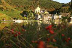 Cityscape of village Beilstein at Moselle river Stock Image