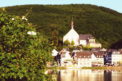 Cityscape of village Beilstein at Moselle river Stock Images