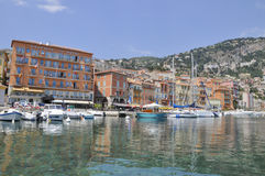 Cityscape villefranche summer. Hotel view Royalty Free Stock Images