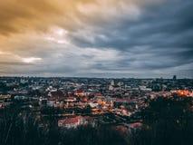 Cityscape of Vilnius stock photography