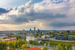 Cityscape of Vilnius, Lithuania. View from the royalty free stock photos