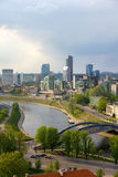 Cityscape of Vilnius. View from Gediminas Tower royalty free stock photo