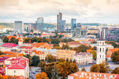 Cityscape in Vilnius Royalty Free Stock Images