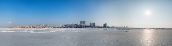 cityscape Vinter Fotografering för Bildbyråer