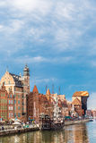 Cityscape on the Vistula River in Gdansk, Poland. Stock Image