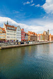 Cityscape on the Vistula River in Gdansk, Poland. Stock Images