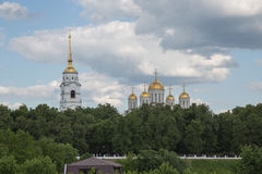 Cityscape Vladimir Russia view Ascension cathedral Royalty Free Stock Images