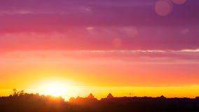Cityscape Vroege ochtend: multicolored de zomerzonsopgang in Kiev stock videobeelden