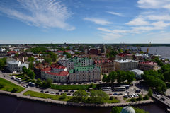 Cityscape of Vyborg, Russia Stock Images