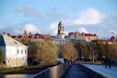 Cityscape of  Vyborg Stock Photography