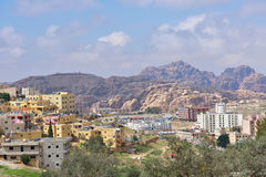 Cityscape of Wadi Musa, Jordan Royalty Free Stock Photos
