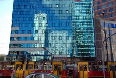 Cityscape of Warsaw Stock Photos