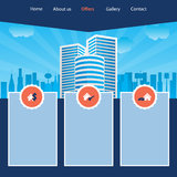 Cityscape website template design Royalty Free Stock Images