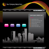 Cityscape websitemalplaatje Stock Foto's